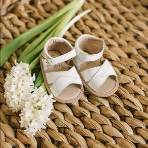 White leather Baby Sandals